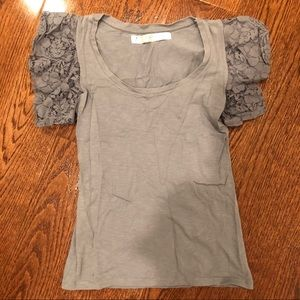 Zara gray lace top